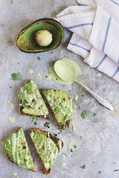 Avocado Toast with Cilantro Lime Cashew Cream.