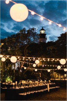 Wedding reception at the Hemingway Home in Key West, Florida.