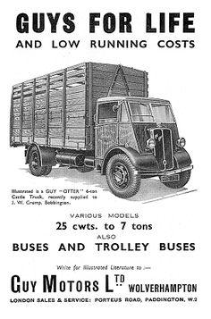 Guy Motors Vintage Trucks, Old Trucks, London Sales, Old Lorries, Wolverhampton, Commercial Vehicle, Vixen, Otters, Buses