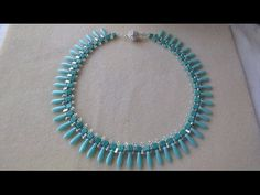 This video tutorial from The Potomac Bead Company teaches you how to make our 'easy elegance' necklace using Miyuki seed beads and your choice of faceted ron...
