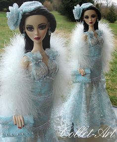 """2012 EVANGELINE GHASTLY OOAK OUTFIT """"DANCING WITH MORTIMER"""" BY COLLET-ART"""