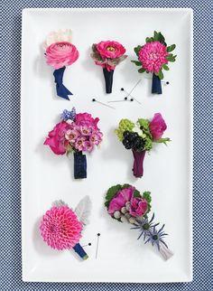 Navy Blue & Fuchsia Wedding Ideas