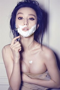 Fan Bing Bing Photographed by Chen Man via chiefcreative.me Best known for her color-saturated portraits and quirky humor, Chen Man is one of China's most sought-after fashion photographers. (via Luxury Insider)