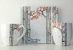 Summer Aspen Forest 3 Piece Personalized by MaryElizabethArts