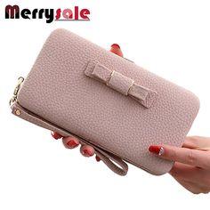 Lange Brieftasche niedliche bogen student lunchbox handtasche der großen kapazität handy
