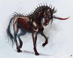 Jinni unicorn inspiration, except they have shadowy black manes