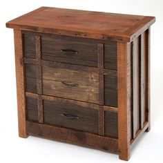 Barnwood Chest Three Drawers - Heritage Collection