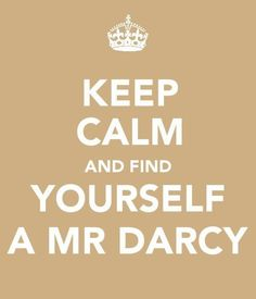 Oh Mr. Darcy, why can't you be real?