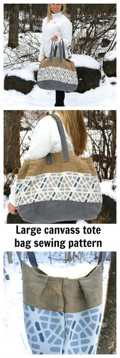 Make the awesome Burley Tote bag by downloading this PDF sewing pattern.