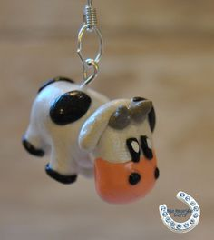 Cute Cow Polymer Clay Earrings by BlueHorseShoeCrafts on Etsy, $6.50