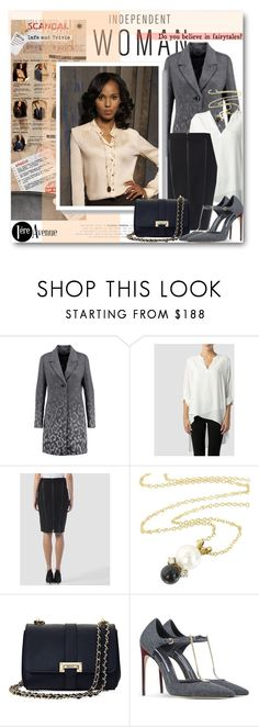 """""""Do You Believe In Fairytales? Olivia Pope Style"""" by beebeely-look ❤ liked on Polyvore featuring Joseph Ribkoff, Tiffany & Co., Aspinal of London, Brian Atwood, Fall, Scandal, scandalABC, premiereavenue and JosephRibkoff"""