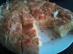 Plukbrood uit de oven met mozzarella en tomaat/knoflook tappenade
