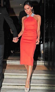 Victoria Beckham in Victoria Beckham dress