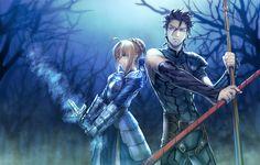 Saber (Arturia Pendragon) & Lancer - Fate/Zero & Fate Stay Night #FTN #FZ