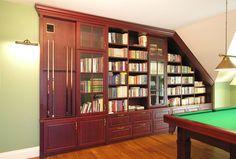 biblioteka mahoniowa na wymiar