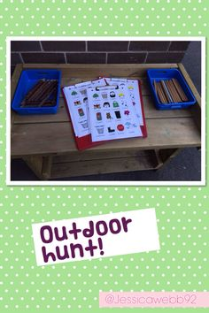 Label objects around the school - Students fill in their board with new words Outdoor Learning, Home Learning, Learning Activities, Outdoor Activities, Activities For Kids, Eyfs Outdoor Area, Outdoor Play Spaces, Outdoor Areas, School Scavenger Hunt