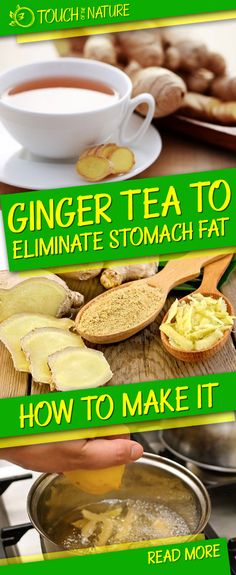 Steps to make Ginger Tea to Eliminate Stomach Fat Touch Of The Nature Tea Recipes, Smoothie Recipes, Dog Food Recipes, Weight Loss Tea, Weight Loss Snacks, Benefits Of Drinking Ginger, Healthy Snacks, Healthy Eating, Lemon Detox