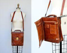 Leather Bag / Wallet Bag / Organizer Bag / Unisex Leather Bag / Messenger Bag / CrossBody Travel / Boho Hippie Hipster Large Bag by ItaLaVintage on Etsy