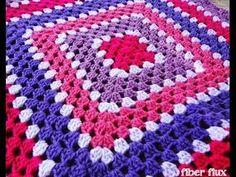 VERY EASY crochet granny square blanket - never ending crochet granny square…