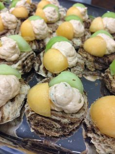 Salmon Mousse with Melon on Rye Bread