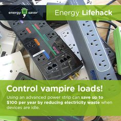 Find out how to choose the right advanced power strip to save money and energy. Diy Solar System, Solar Energy System, Solar Power, Energy Saver, Energy Use, Save Energy, Tattoo Technology, Videos Fun, Electronics Storage