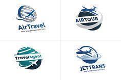 Airplane Travel Logo Set (4 Logos @creativework247