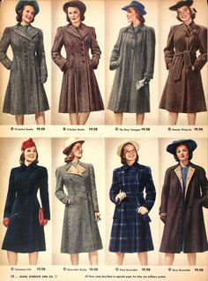 Vintage coats from 1942... great for research and dating vintage coats