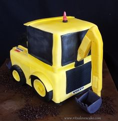 Backhoe cake Construction Cakes, Transportation, Grass, Toys, Activity Toys, Grasses, Clearance Toys, Gaming, Games