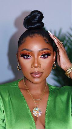Glam Makeup, Flawless Makeup, Gorgeous Makeup, Pretty Makeup, Makeup Tips, Beauty Makeup, Eye Makeup, Hair Makeup, Black Girl Makeup