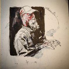 Doodle of guy at coffee shop in AZ. #sketch #jasonshawnalexander