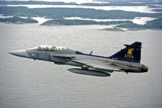 Royal Swedish Air Force Saab JAS39B Gripen in ETPS colours.