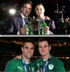 Conor Murray and Johnny Sexton Leinster Rugby, Ireland Rugby, Wales Rugby, Irish Rugby, Chantel Jeffries, Rugby Men, All Blacks, Rugby Players, Scotland