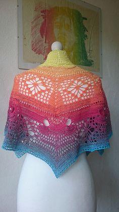 Ravelry: Joker free crochet shawl pattern by Christina Lemberger Crochet Prayer Shawls, Crochet Shawl, Crochet Lace, Free Crochet, Crochet Classes, Crochet Projects, Ravelry, Fabric Yarn, Paintbox Yarn