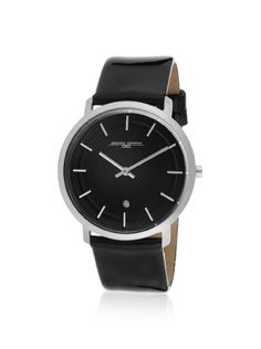 Black Leather Watch, Casual Watches, Gray, Gifts, Accessories, Fashion, Ash, Presents, Moda