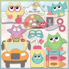 Back To School Owls 1 - NE Trina Clark Clip Art : Digi Web Studio, Clip Art, Printable Crafts & Digital Scrapbooking!
