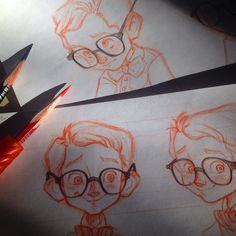 The Art of Renee Bates: Sketches! Character Concept, Character Art, Concept Art, Character Inspiration, Character Design Cartoon, Character Design References, Drawing Sketches, Art Drawings, Sketching