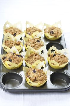 foodwanderings: Healthy Oil/Butter-Free Whole Wheat Banana Oats Blueberry Muffins