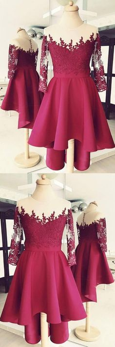 Simple Prom Dresses, High Low Homecoming Dresses with Long Sleeves From petite prom dress styles to plus size prom dresses, short dress to long dresses and more,all of the 2020 prom dresses styles you could possibly want! Long Sleeve Homecoming Dresses, 2 Piece Homecoming Dresses, High Low Prom Dresses, Dresses Short, Tulle Prom Dress, Party Dresses For Women, Dresses For Teens, Trendy Dresses, Nice Dresses