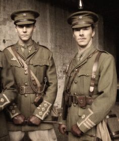 Benedict Cumberbatch AND Hiddles in the same picture? In UNIFORM?!?! -dies-
