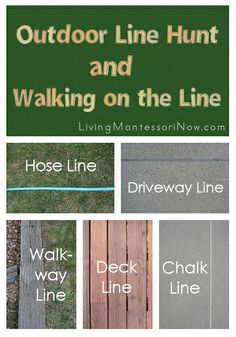 Go on an outdoor line hunt with your preschooler this summer! Links to activities for home or school based on the Montessori activity of walking on the line.