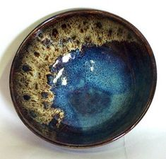 Peter's Pottery, Chun glazed bowl. kiln to cone 11. Dusted with wood ash directly over freshly glazed bowl.