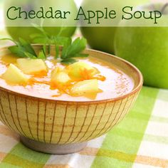 Cheddar Apple Soup has layers of flavor and would be a nice appetizer soup for Thanksgiving (or anytime, really).  #MyAllrecipes  #AllrecipesFaceless #AllrecipesAllstars  #Fall  #Thanksgiving