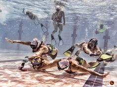 Underwater Hockey Spain vs New Zealand - Warm up amical match between Spain and New Zealand FEM before the World Championships
