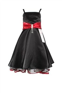 Only available in size 4 now.  Your little darling will surely look lovely in this darling black dress.  #PerfectBlackDress #GirlsBlackDress #EliteDresses