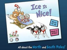 Ice Is Nice!: All About the North and South Poles by @Oceanhouse Media - much more value than the print version of the book!  Original Appysmarts score: 84/100  #kids #apps #kidsapps