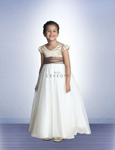 25be43cb169 Bill Levkoff Flowergirl style 60201 is a Satin Dress matches Bill Levkoff  Bridesmaid Dress style 602