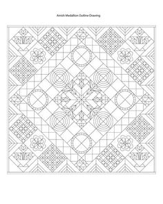 Looking for quilting project inspiration? Check out Amish Medallion Outline Drawing by member Carl Hentsch.