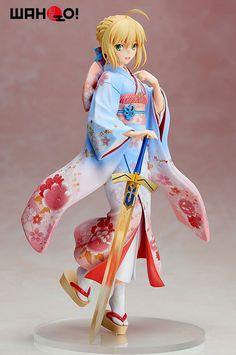 Statuette FateStay Night Unlimited Blade Works Saber Kimono Ver. 25cm  1001 Figurines