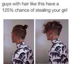 This is so hot. Omg. Haircut. Male hair. Male bun. So adorable I can't