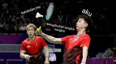 Tangkis mas! Quotes Lucu, Jokes Quotes, Haikyuu Meme, Cartoon Jokes, Funny Kpop Memes, Laugh A Lot, K Idol, Meme Faces, Badminton